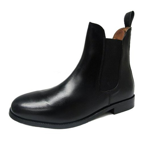 Black Leather Twin Gusset Chelsea Boot Size 39 EU