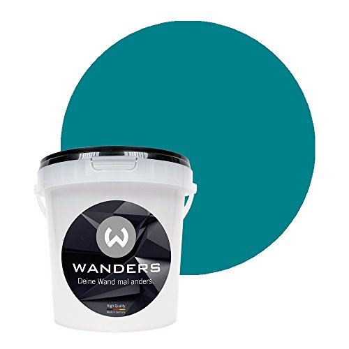 Wanders24® Tafelfarbe (1Liter, Türkis) Blackboard Paint - Tafellack - abwischbare Wandfarbe - in 20 Farbtönen erhältlich - Made in Germany