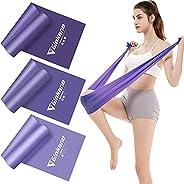 Haquno elastico fitness (3 pezzi)1.5M /1.8M /2M,con 3 livelli di resistenza, è ideale per yoga, pilates, allen