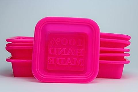 Unitedcovers Set aus 10 Stück 100% HANDMADE Formen aus Silikon zum Seifengiessen