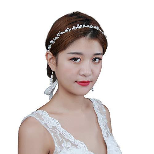 TOPQUEEN Accessoires braut Gold Perle Strass Braut Haarkamm Hochzeit Haarschmuck Tiara Diadem, Schmetterlinge (HP03 Silver)