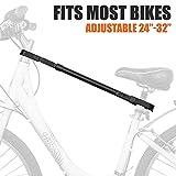 Cadre de Vélo Adaptateur Barre de Remorquage Velo Réglable, Charge Maximale 100 Kg,...