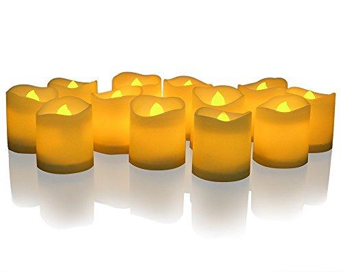 DLAND LED Iluminado Flickering Votive Style Velas sin llama Paquete de 24
