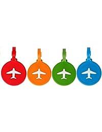 NOV@GO® Lot de 4 Etiquettes bagages / étiquette valise AVION