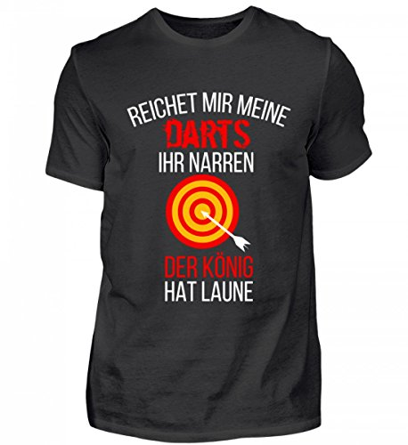 *Hochwertiges Herren Shirt – Reichet Mir Meine Darts Spruch Darten Bar Bulls-Eye Kneipe Dart Geschenk*