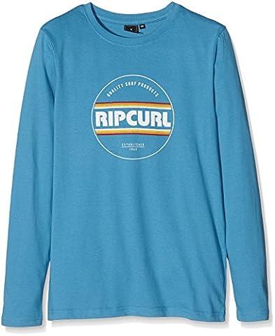 Rip Curl Biggy Boy Ls Tee T-Shirt Garçon, Bluejay, FR : 14 Ans (Taille Fabricant : 14)