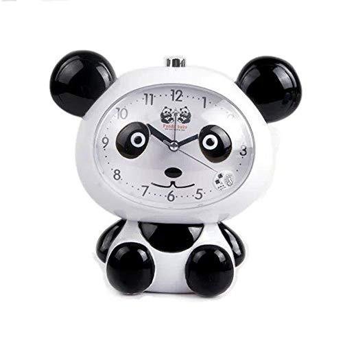 XDQFY Cartoon Cute Panda Wecker Schreibtisch Digital Wecker Stereo Wake Up mit Nachtlicht Schlaf Trainer für Kinder,White -