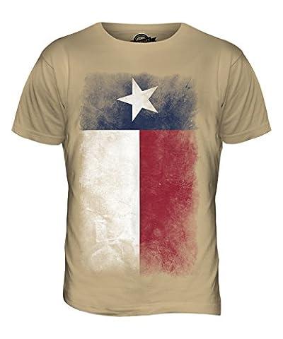 Texas état décoloré Drapeau - T-Shirt Hommes Haut T-shirt - caramel, S