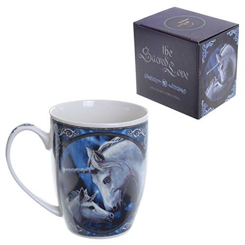 Original Taza de cerámica china Lisa Parker - Unicornio de amor sagrado