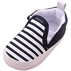 Minetom Ragazzi e Ragazza Neonati Bambini a Strisce Sneakers Scarpine Morbido Sole Anti Scivolo Scarpe Outdoor Blu scuro 11 cm