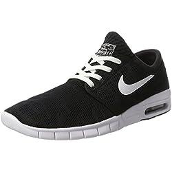Nike Stefan Janoski Max, Zapatillas de Skateboarding para Hombre, Negro/Blanco (Black/White), 42 EU