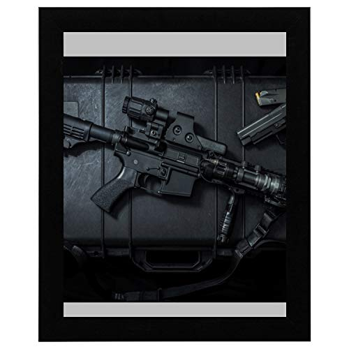 SHAOKAO Wandkunst Bad Pistole Enthusiasts'rifles Schlafzimmer Wandkunst 17 x 13 Zoll gerahmte Print...