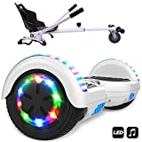Markboard hoverboard bluetooth 6.5 pouces, Gyropode Smart scooter overboard Roues lumineuses à LED + Hoverkart