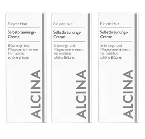 3 x Alcina Selbstbräunungs-Creme - 50ml