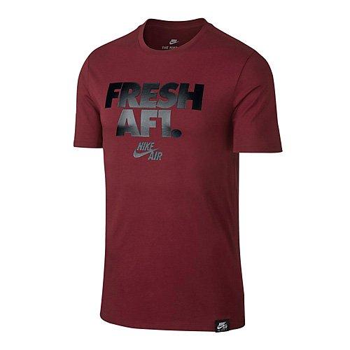 Nike 892153-677 T-Shirt Homme Rouge Équipe/Noir