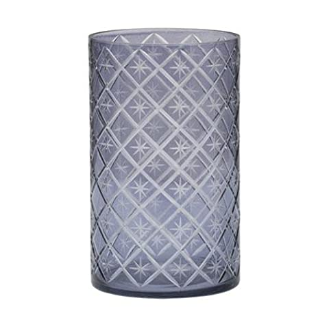 Yankee Candle 2016 Holiday Party Winter Accessories - Grey Etched Star (Jar/Pillar Holder)
