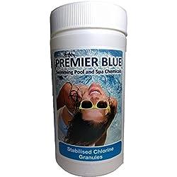 Premier azul 1kg cloro granulado para piscinas Spa y jacuzzis