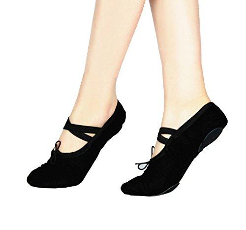 Mintice™ Gymnastik Schuhe Ballettschuhe Ballerina Balletschläppchen aus Leinen