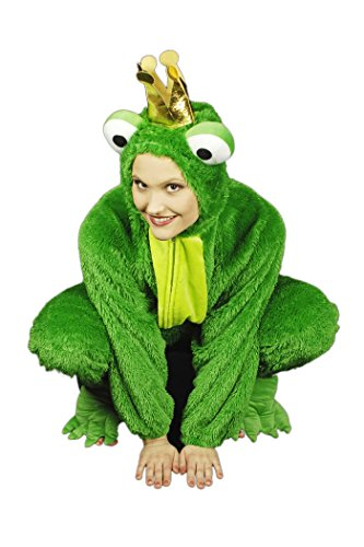 Froschkönig Kostüm für Erwachsene | Größe 50/54 | 1-teiliges Märchen Kostüm für Karneval | Frosch (Erwachsene 50 Kostüme Für)