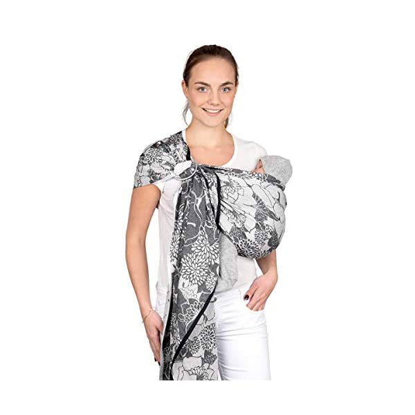 Hoppediz Ring Sling (Jacquard Florenz) Hoppediz Suitable from birth until parent or child chooses to stop carrying 100% Cotton Special broken twill weave 1