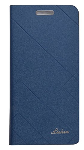 GSMOBILE Royal Lishen Cover Book Kick Stand Wallet Flip Cover Samsung Galaxy On7/Samsung On7 Pro-Blue