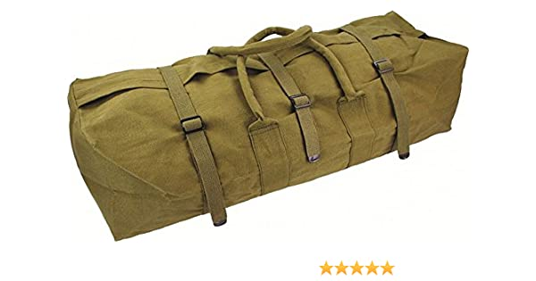 Highlander Outdoor Products Combat Military Army Rope Handle Canvas Heavy  Duty Tool Equipment Kit Bag Surplus Green New cb10f23100394