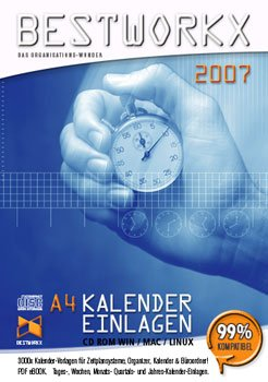 EXECUTIVE 3000x Kalender Vorlagen A4 2007 CD ROM