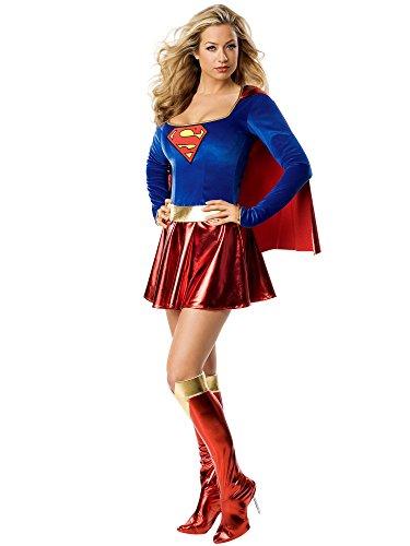 girl-Kostüm Deluxe für Damen (Superman Halloween Kostüm Ideen)