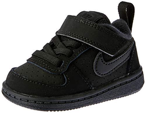 Nike Unisex-Kinder Court Borough Low (TDV) Basketballschuhe, Schwarz Black 001, 26 EU