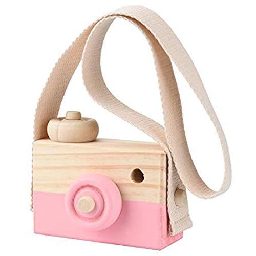 PoeHXtyy Mini Juguete de la cámara de Madera de la Almohada de los niños Que cuelga la decoración del Regalo del Juguete portátil