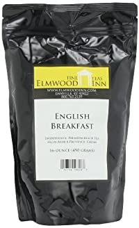 Elmwood Inn Fine Teas, English Breakfast Keemun Black Tea, 16-Ounce Pouch