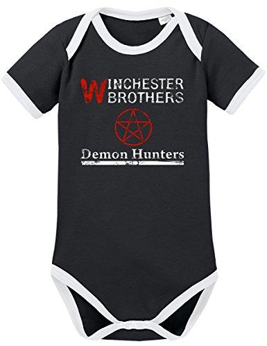 Demon Kostüm Hunter - TSP Winchester Demon Hunters Kontrast Baby Body 74 Schwarz