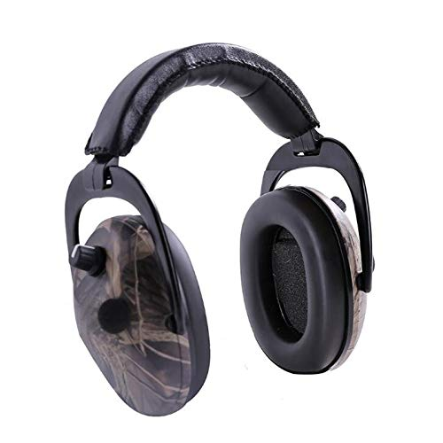 HWZ Dead Leaf Camouflage Shooting Tactics Intelligent Noise Reduction Sound Insulation Built-in Battery Powered Anti-Noise Headphone Batterie-powered-headset