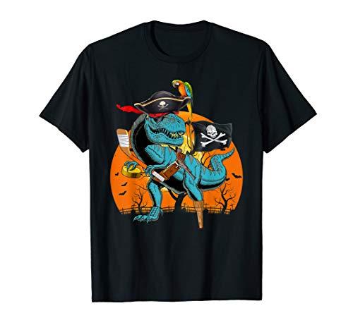 Jolly Roger T-rex Dinosaur Pirate Hockey Halloween  T-Shirt