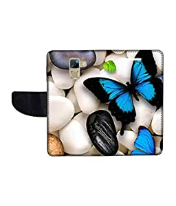 KolorEdge Printed Flip Cover For Huawei Honor 7 Multicolor - (1478-50KeMLogo10076Honor7)