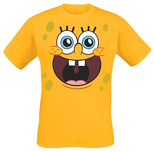 Officially Licensed Merchandise Sponge Bob Sponge Happy Face T-Shirt, Large