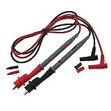 con Tapa 20 A Cable de Prueba de sonda ultraafilado Chapado en Oro para Mult/ímetro Digital Zerone 1000 V