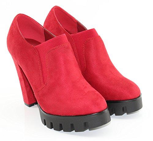 MODELISA A6155, Damen Stiefel & Stiefeletten Rot