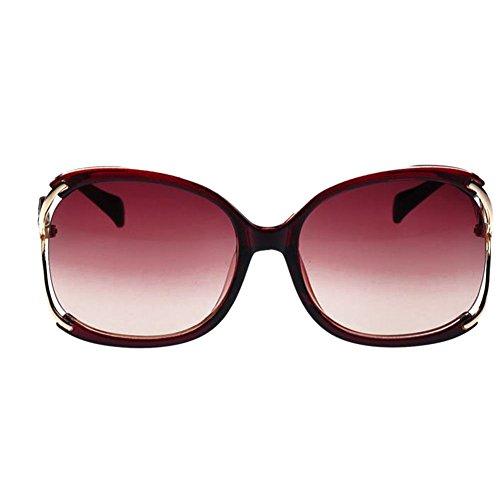 Lunettes de soleil Fashion Designer Vintage classique Chic Eyewear VOX femmes – Cadre noir et clair – Lentille fumée g0xHsXP