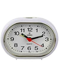 Horo Snooze With Radium White Alarm Clock 9X3X6.5Cm