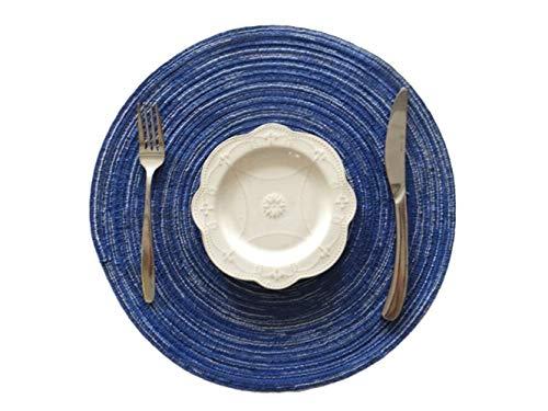 Doouytert bene 4 materassini in lino con tappetini isolanti tappetini antiscivolo per esterni da giardino di casa (blu)