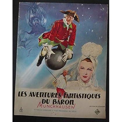 Dossier presse de Les aventures fantastiques du Baron Munchhausen (1947) – Film de Josef Von Baky – Photos N&B + dessins de Henri Faivre - Bon état.