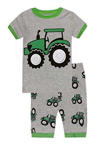Schlafanzug Kinder Traktor - Design Pyjama Jungen Short (Görßen 2-10 Jahre) 7 Jahre ()