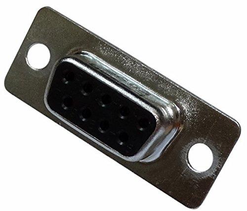 Preisvergleich Produktbild AERZETIX: 2x Anschlussstecker D-Sub 9-polig serielle RS232-Buchse Messing Serie