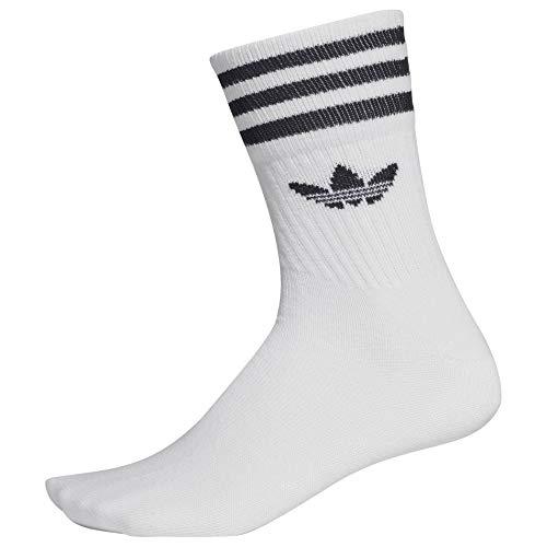 adidas Originals Socken Dreierpack MID CUT CRW SCK DX9091Weiß, Size:39/42