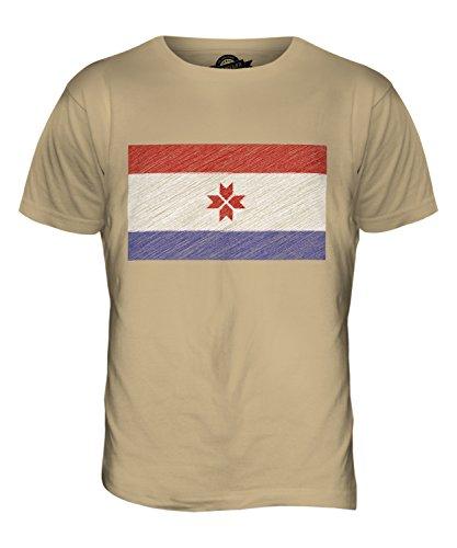 CandyMix Mordwinien Kritzelte Flagge Herren T Shirt Sand