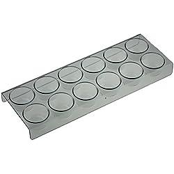 Lot de 12supports à œufs pour réfrigérateur Samsung, longueur: 28cm, largeur: 10cm, hauteur: 2,5cm, diamètre du compartiment à œufs: 4cm.