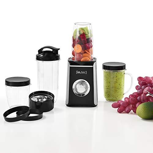 in.tec Standmixer 9in1 Mixer Smoothie-Maker Küchenmaschine Milchshake Blender