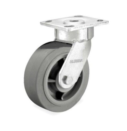 Swivel Plate Caster with Non Marking Gray Rubber 6