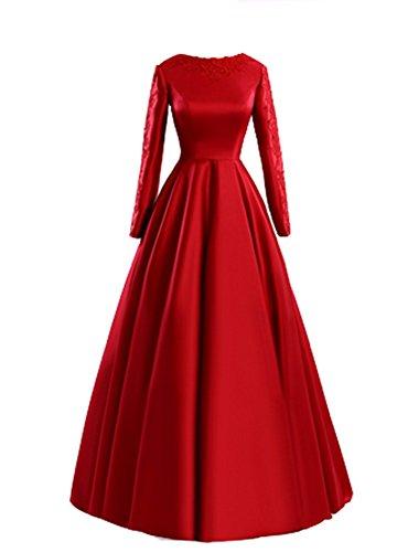 Robe bustier longue de soirée Emmani pour femmes Rouge